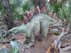 dinosaur at zoo