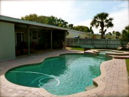 Satellite Beach FL pool home